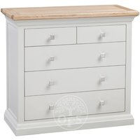 Product photograph showing Wedmore Oak And Grey Painted 2 Over 3 Drawer Chest