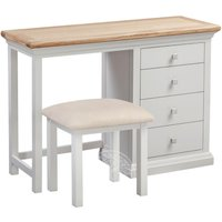 Product photograph showing Wedmore Oak And Grey Painted Dressing Table Set