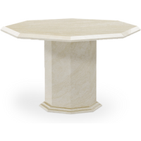 Product photograph showing Crema Octagonal Marble Dining Table