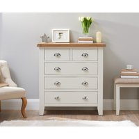 Read more about Eden oak and white 2 over 3 chest of drawers