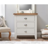 Read more about Eden oak and white 3 drawer chest