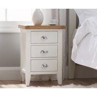Read more about Eden oak and white 3 drawer bedside table