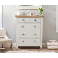 Read more about Eden oak and white large 2 over 3 chest of drawers