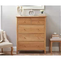 Read more about Sadie oak large 2 over 3 chest of drawers