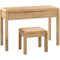 Product photograph showing Curve 2 Drawer Dressing Table And Stool