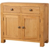 Product photograph showing Avalon Oak 2 Door 2 Drawer Sideboard