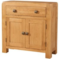 Product photograph showing Avalon Oak 2 Door 1 Drawer Sideboard