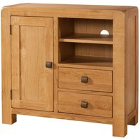 Product photograph showing Avalon Oak Sideboard Media Unit