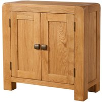 Product photograph showing Avalon Oak Small 2 Door Cabinet