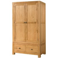 Avalon Oak Double Wardrobe with 2 Drawers