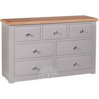 Read more about Devonshire diamond painted wide 7 drawer chest