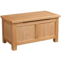 Product photograph showing Lulworth Light Oak Blanket Box