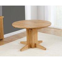 Dorchester 120cm Oak Round Extending Dining Table