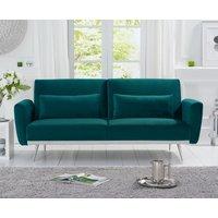 Elena Green Velvet Sofa Bed
