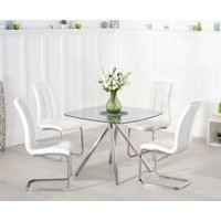 Read more about Elva 100cm glass dining table with lorin chairs