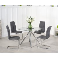 Read more about Elva 100cm glass dining table with tarin chairs