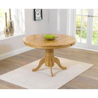 Product photograph showing Epsom 120cm Round Pedestal Dining Table