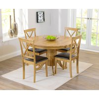 Product photograph showing Epsom 120cm Round Pedestal Dining Set With Chairs