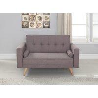 Product photograph showing Elijah Grey Medium Sofa Bed