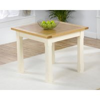 Product photograph showing Eton 90cm Solid Pine And Ash Kitchen Table