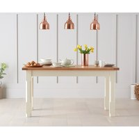 Product photograph showing Eton 130cm Solid Pine And Ash Kitchen Table