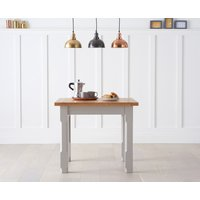 Product photograph showing Eton Grey 90cm Solid Pine And Ash Kitchen Table