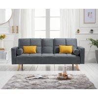Etta Grey Linen 3 Seater Fold Down Sofa Bed