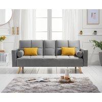 Etta Grey Velvet 3 Seater Fold Down Sofa Bed