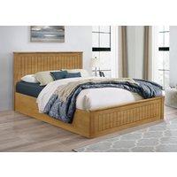 Idaho Oak Double Ottoman Bed