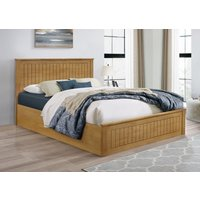 Idaho Oak Small Double Ottoman Bed