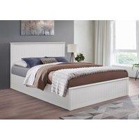 Idaho White Small Double Ottoman Bed