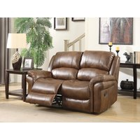 Finchley Tan Leather 2 Seater Sofa