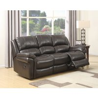 Finchley Brown Leather 3 Seater Sofa