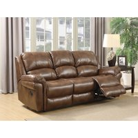Finchley Tan Leather 3 Seater Sofa