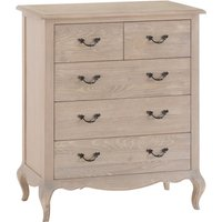 Product photograph showing Limor Oak 2 Over 3 Chest Of Drawers