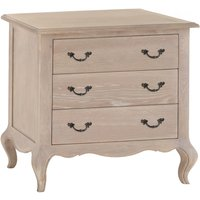 Product photograph showing Limor Oak 3 Drawer Chest Of Drawers