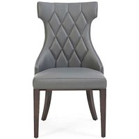Product photograph showing Ex-display Set Of Four Freya Grey Faux Leather Dining Chairs