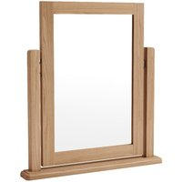 Skylar Light Oak Trinket Mirror