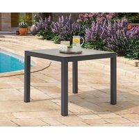 Product photograph showing Gardenia 90cm Dark Grey Garden Table
