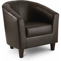 Read more about Gabby brown faux leather tub chair