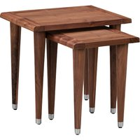 Product photograph showing Goa Walnut Nest Of Tables