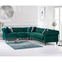 Limoges Medium Green Velvet Corner Sofa