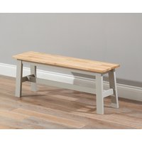 Chiltern Large Grey and Oak Bench