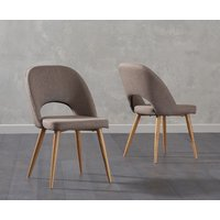 Product photograph showing Ex-display Set Of Two Halifax Brown Fabric Dining Chairs