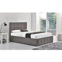 Illinois Grey Crushed Velvet Small Double Ottoman Bed
