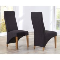 Product photograph showing Henley Charcoal Grey Fabric Dining Chairs - Grey 2 Chairs