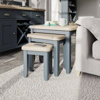 Product photograph showing Scarlett Nest Of 3 Tables