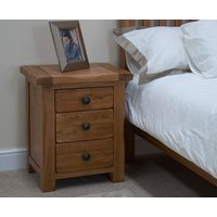 Read more about Bramley oak 3 drawer bedside chest