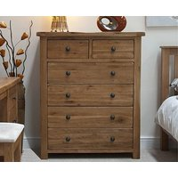 Product photograph showing Ex-display Bramley Oak 2 Over 4 Drawer Chest