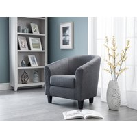 Read more about Hudson grey linen tub chair